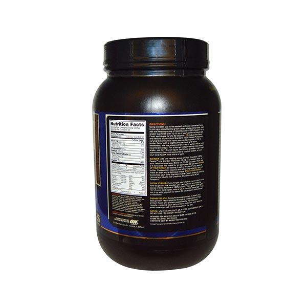 پودر کازئین گلد استاندارد اوپتیموم نوتریشن | 909 گرم -  کرم موزی  | افزایش عملکرد عضلات