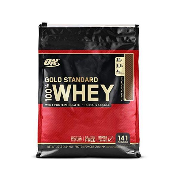 پودر وی گلد اکستریم میلک شکلات  اپتیموم نوتریشن | 4540 گرم | افزایش عملکرد عضلات و مناسب برای دوره کات