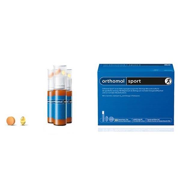 ویال، کپسول و قرص ارتومول اسپرت | 30 عدد | مولتی ویتامین به همراه ال کارنیتین و کیوتن