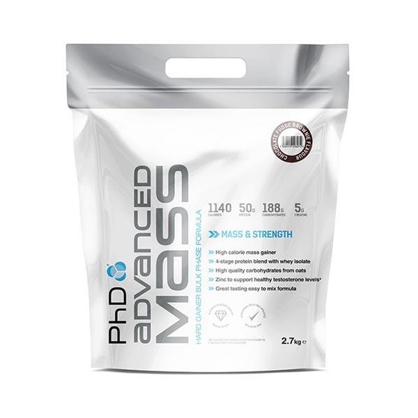 پودر ادونس مس پی اچ دی | 2700 گرم | مناسب برای افزایش وزن همراه با پروتئین، کراتین و بی سی ای ای