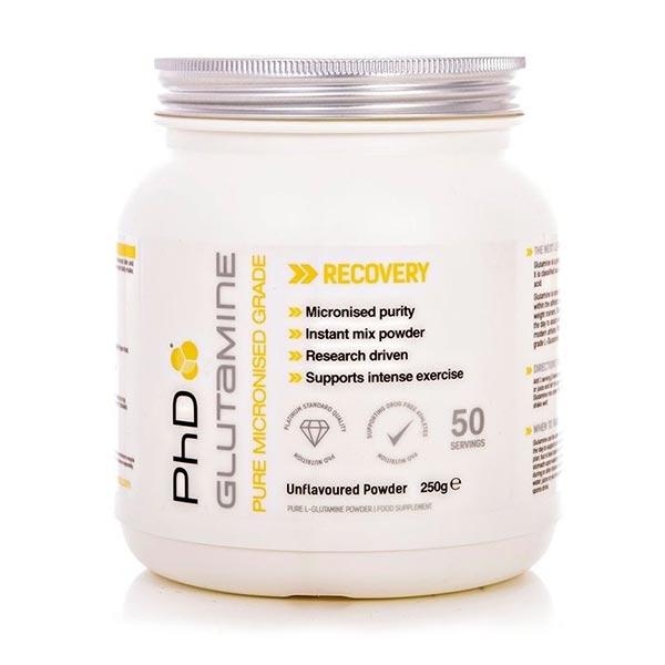 پودر گلوتامین پی اچ دی | 250 گرم | بهبود عملکرد عضلات و سنتز پروتئین