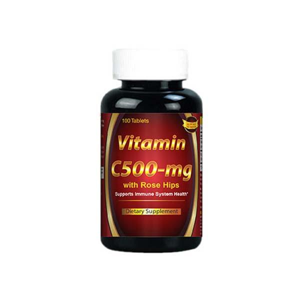 قرص ویتامین C ساپورت نوتریشن | 100 عدد | حفاظت از بدن در برابر نقص های سیستم دفاعی