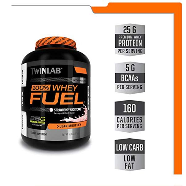 پودر پروتئین وی 100% فیول توینلب | 2270 گرم | پروتئین و حجم دهنده عضلات