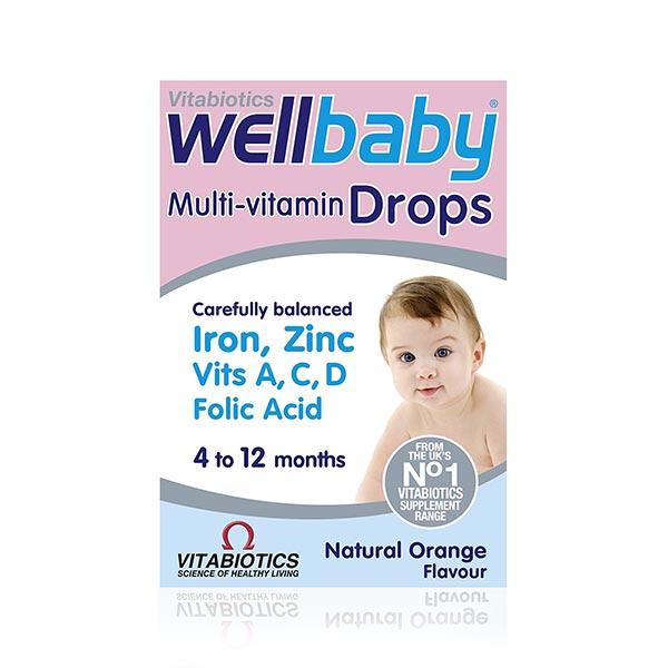قطره مولتی ویتامین ول بی بی ویتابیوتیکس   تقویت کننده و مناسب رشد کودک