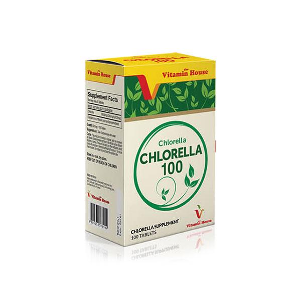 قرص کلرلا 100 ویتامین هاوس   100 عدد   کمک به سم زدایی بدن و بهبود سلامت گوارش