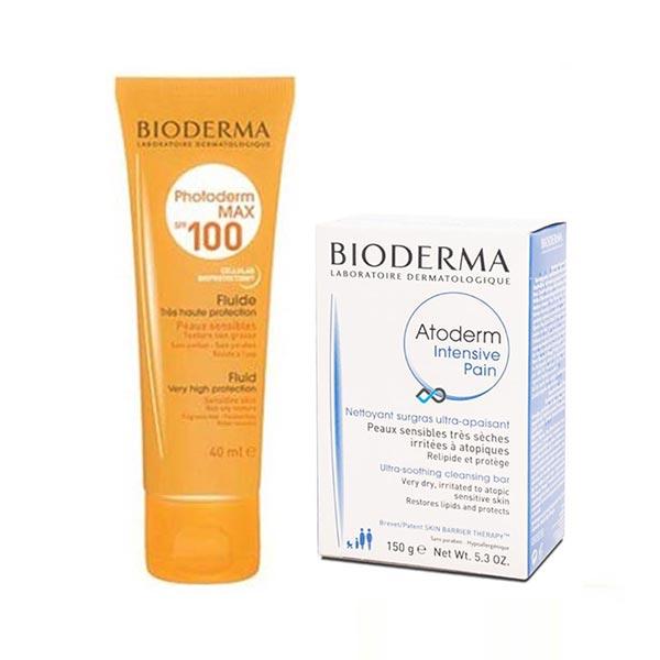 پکیج پن اتودرم اینتنسیو و ضد آفتاب فتودرم مکس SPF100 بایودرما