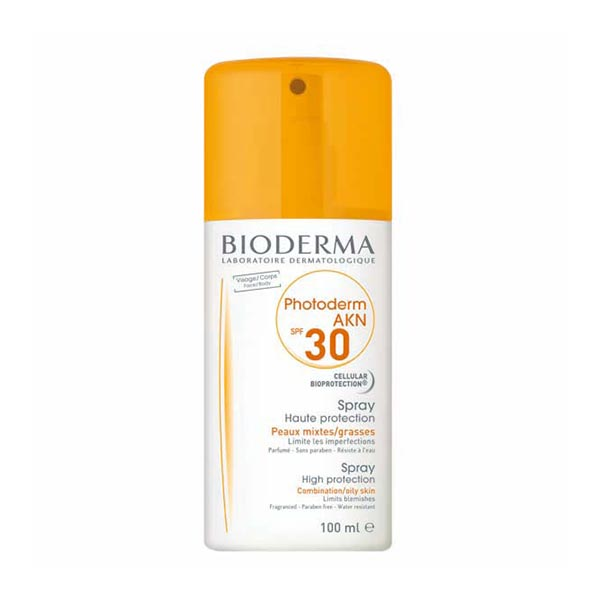 اسپری ضد آفتاب فتودرم آکنه بایودرما   100 میل   ضد آکنه و مناسب پوست های چرب و جوشی