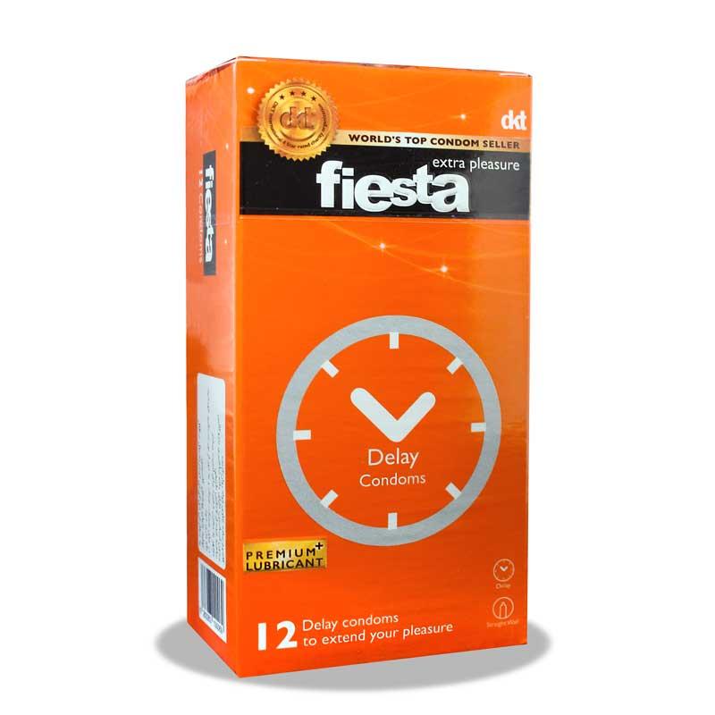 کاندوم تاخیری فیستا   12 عدد   حاوی بنزوکائین برای ایجاد تاخیر و لذت طولانی تر