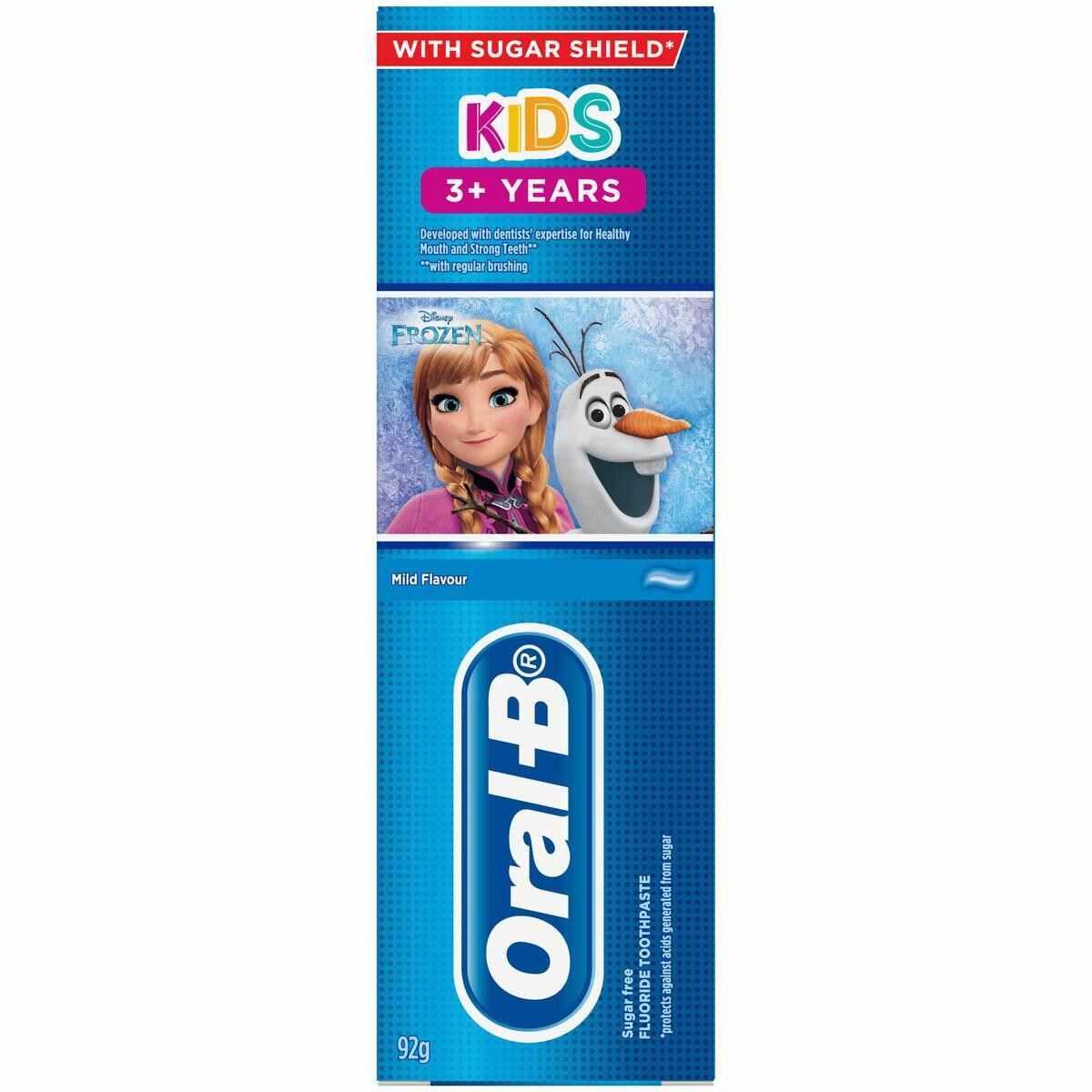 خمیردندان کودکان بالای 3 سال اورال بی مدل frozen سری kids