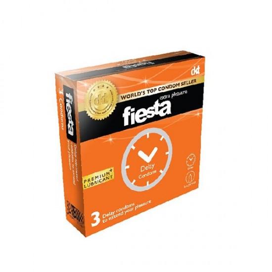 کاندوم تاخیری فیستا   3 عدد   حاوی بنزوکائین برای ایجاد تاخیر و لذت طولانی تر