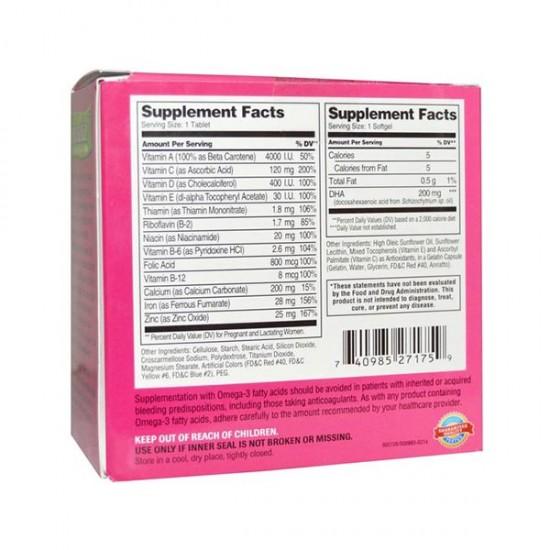قرص و کپسول پریناتال و دی اچ آ 21 سنتری   60 عدد   مولتی ویتامین مناسب برای دوران بارداری