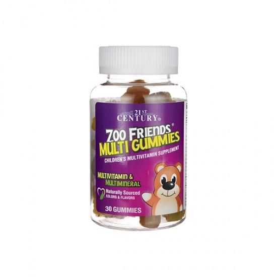 پاستیل مولتی زو فرندز 21 سنتری | 30 عدد | حاوی ویتامین ها و مواد معدنی برای کودک