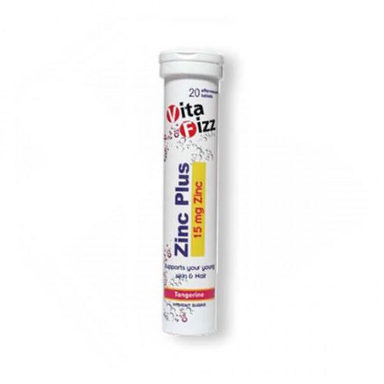 قرص جوشان زینک پلاس ویتافیز | 20 عدد | جلوگیری از ریزش مو و سلامت پوست