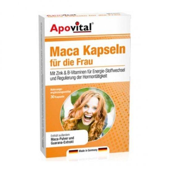 کپسول ماکا آپوویتال | 30 عدد | تقویت قدرت باروری و افزایش میل جنسی و شادابی و انرژی در بانوان