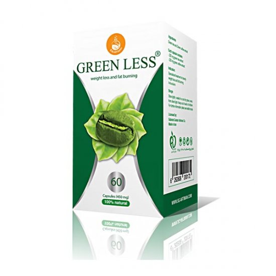 کپسول گرین لس آرتیمان | 60 عدد | حاوی عصاره چای سبز و قهوه سبز برای کاهش وزن