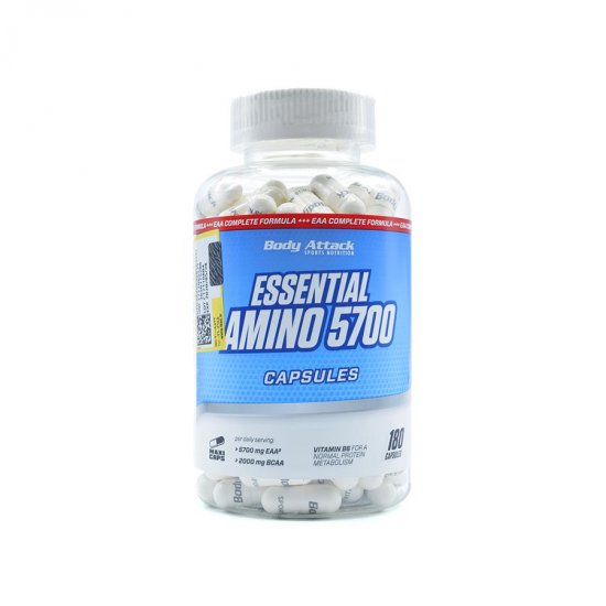 کپسول آمینو اسنشیال 5700 بادی اتک | 180 عدد | مکمل اسید آمینه و افزایش متابولیسم پروتئین