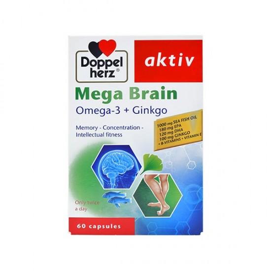 کپسول مگابرین داپل هرز | 60 عدد | تقویت حافظه، سلامت ذهن و بهبود تمرکز