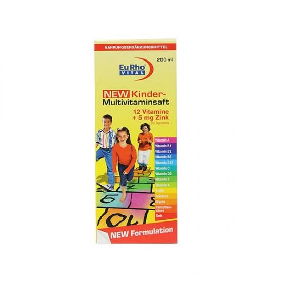 شربت مولتی ویتامین کیندر یورو ویتال | 200 میل |تقویت سیستم ایمنی و تامین ویتامین های مورد نیاز بدن در کودکان