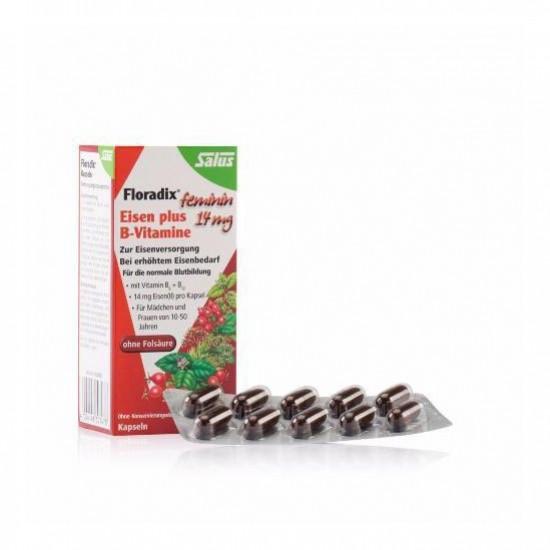 کپسول آهن و ویتامین ب فلورادیکس | 40 عدد | کمک به تامین آهن مورد نیاز بدن