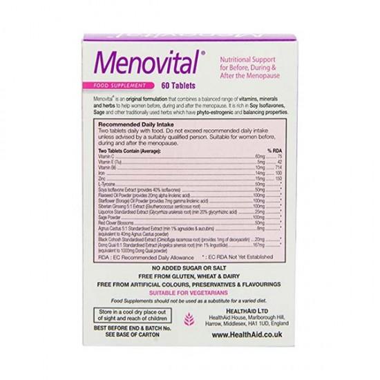 قرص منوویتال هلث اید | 60 عدد | افزایش توان فیزیکی و رفع خستگی، مناسب دوران یائسگی