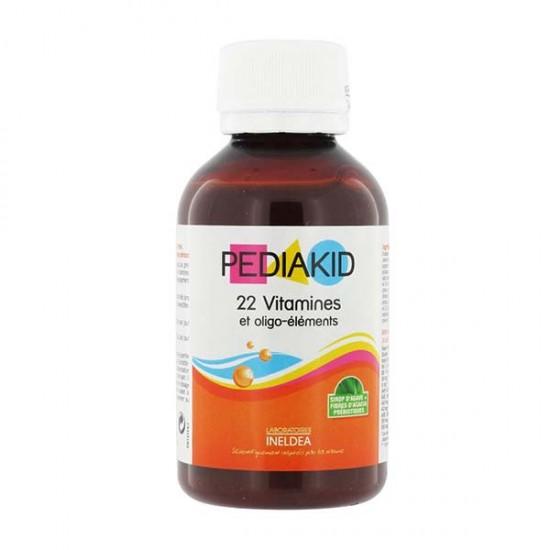 شربت مولتی ویتامین 22 ویتامین پدیاکید اینلدا | مولتی ویتامین کامل برای کودکان