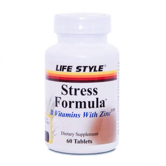 قرص استرس فرمولا با زینک لایف استایل   60 عدد   حفظ سیستم ایمنی و سلامت پوست