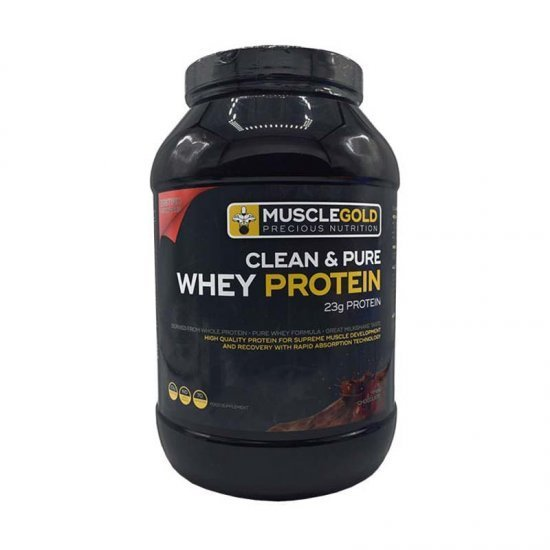 پودر پروتئین وی شیر شکلات ماسل گلد   2272 گرم   پروتئین با کیفیت بالا برای رشد و بهبود عضلات