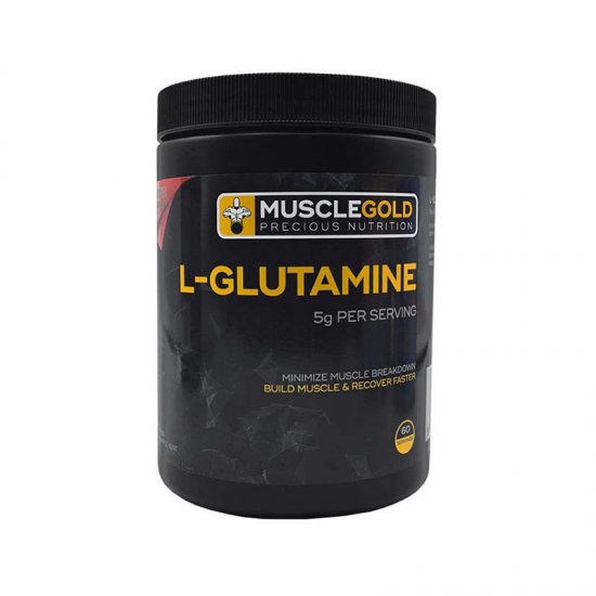 پودر گلوتامین ماسل گلد | 300 گرم | جلوگیری از کاتابولیسم عضلانی و افزایش ریکاوری عضلات