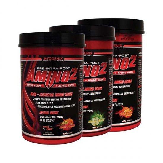 پودر آمینو 2 مایوژنیکس   420 گرم   کمک به رشد توده ماهیچه و جلوگیری از تحلیل آن