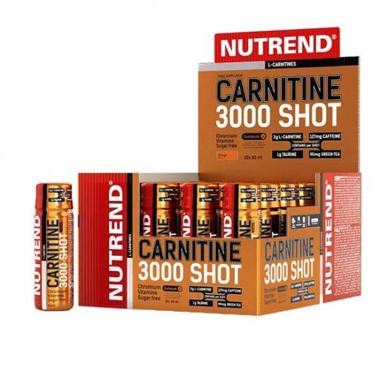 ویال کارنیتین 3000 شات ناترند | 1 عدد | کاهش بافت چربی همراه با کافئین و تائورین