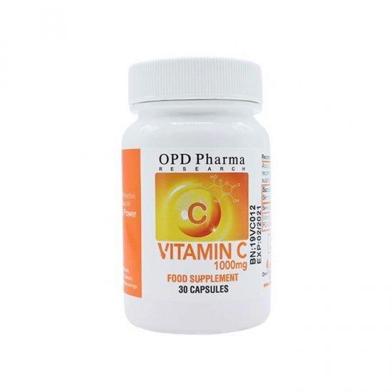 کپسول ویتامین سی 1000 او پی دی فارما | 30 عدد | تقویت سیستم ایمنی