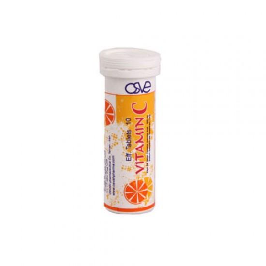قرص جوشان ویتامین C داروسازی اسوه | 10 عدد | تقویت کننده سیستم ایمنی و ضد سرماخوردگی