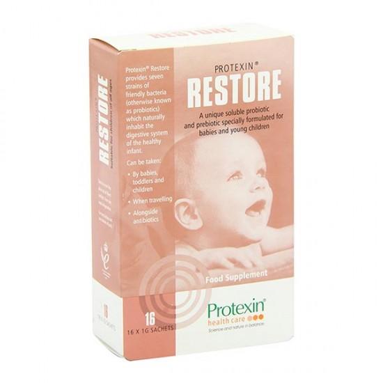ساشه رستور پروتکسین | 16 عدد | تنظیم دستگاه گوارش نوزادان و کودکان