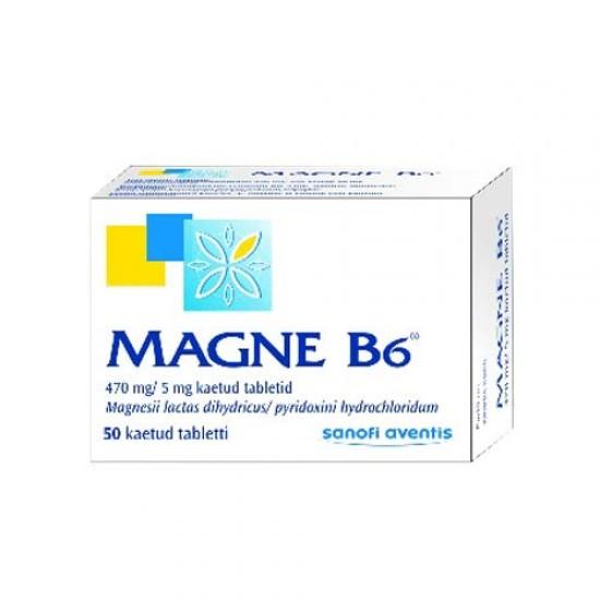 قرص مگنه B6 سانوفی اونتیس   50 عدد   درمان کمبود منیزیم و ویتامین ب 6