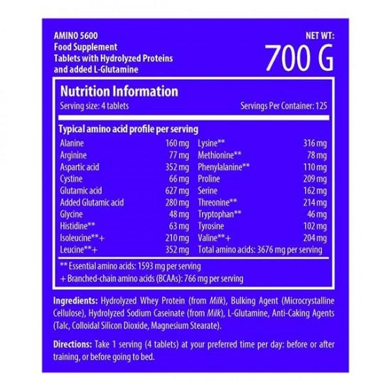قرص آمینو 5600 سایتک    دارای 19 آمینو اسید برای افزایش رشد و ریکاوری عضلات