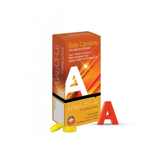 قرص بتاکاروتن سپید طب   30 عدد   تامین ویتامین A مورد نیاز بدن و آنتی اکسیدان قوی