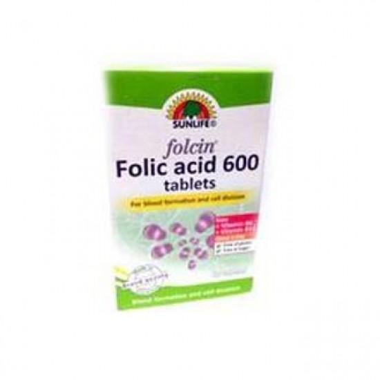 قرص فولاسین اسید فولیک سان لایف   60 عدد   افزایش خونسازی در بدن