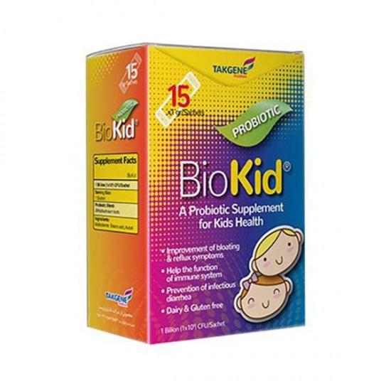 ساشه پروبیوتیک بایوکید تک ژن فارما   15 عدد   حاوی پروبیوتیک برای بهبود مشکلات گوارشی کودکان