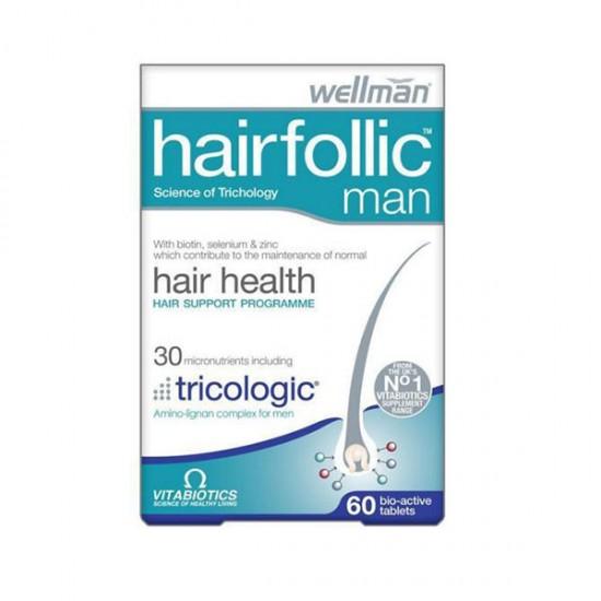 قرص هیرفولیک آقایان ویتابیوتیکس   60 عدد   حفظ سلامت و جلوگیری از ریزش مو
