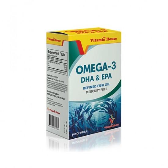 کپسول امگا 3 ویتامین هاوس   60 عدد   کمک به سلامت قلب، سیستم عصبی و بهبود علائم آسم