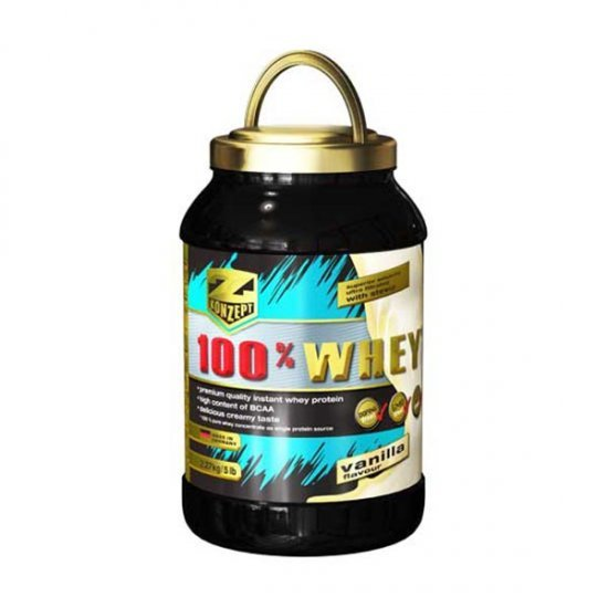 پودر پروتئین وی 100% زد کانزپت | 2270 گرم | 23 گرم پروتئین با کیفیت در هر وعده