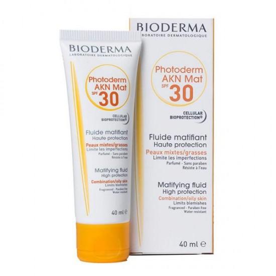 فلوئید ضد آفتاب فتودرم آکنه مت بایودرما   40 میل   مناسب پوست های چرب و جوشی