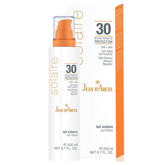 لوسیون ضد آفتاب SPF30 ژاندارسل | 200 میلی | تقویت کننده سیستم ایمنی پوست و التیام بخش