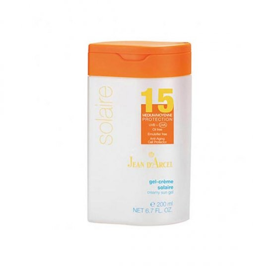 ژل کرم ضد آفتاب با SPF15 ژاندارسل | 200 میلی لیتر | پیشگیری از آسیب های آفتاب و فاقد چربی