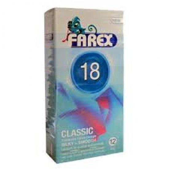 کاندوم 18 فارکس   12 عدد   دارای سطح صاف و بسیار چرب و شفاف