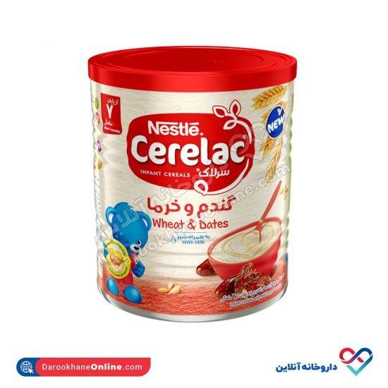 سرلاک گندم و خرما به همراه شیر نستله   غذای کمکی کامل کودکان از پایان 7 ماهگی