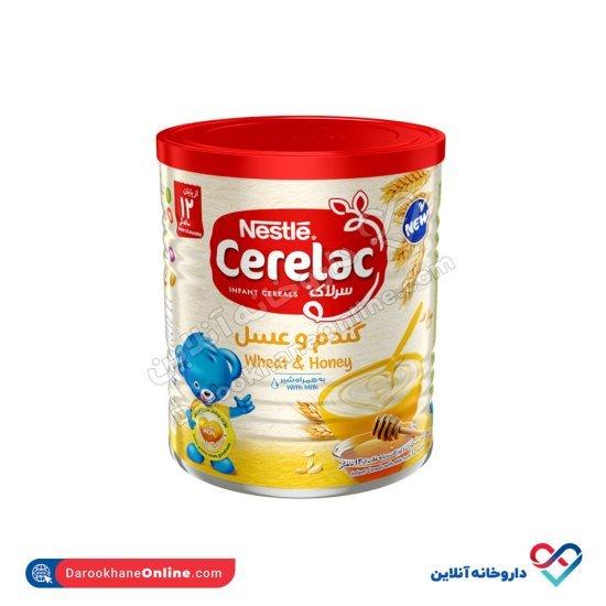 سرلاک گندم و عسل به همراه شیر نستله   غذای کمکی کامل کودکان از پایان 12 ماهگی