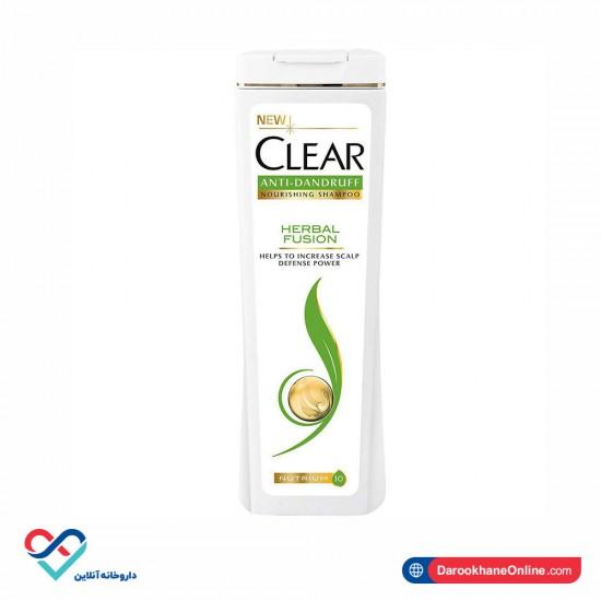 شامپو ضد شوره بانوان کلیر مدل Herbal Fusion    مناسب برای هر نوع موی سر   برطرف کننده خارش