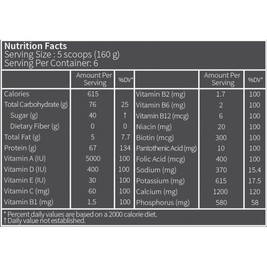 گینر مسیو وی کارن (PNC)   1000 گرم   عضله ساز و مناسب برای دوره بدنسازی و آمادگی جسمانی