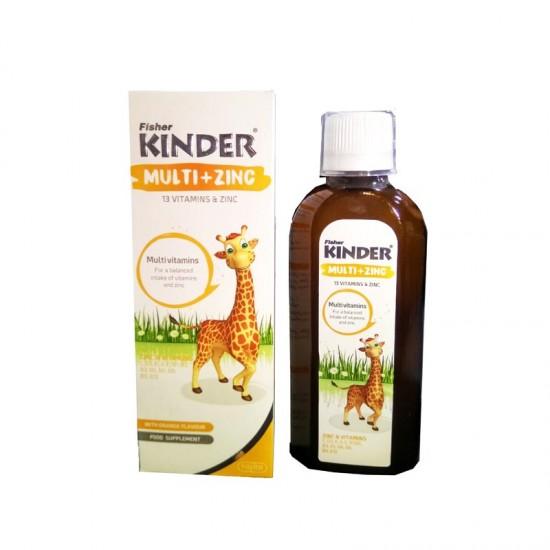 شربت مولتی ویتامین با زینک کیندر | 200 میل | حاوی انواع ویتامین های مورد نیاز کودک